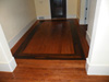 Atlanta solid oak hardwood floors with a walnut border